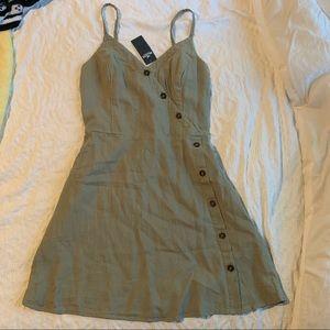 Hollister Button-Front Wrap Dress